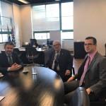 O presidente do Iprev, Joel Benin; o diretor-presidente da SPPREV, José Roberto de Morais; e o diretor de benefícios da SPPREV, Fernando Zanelli.