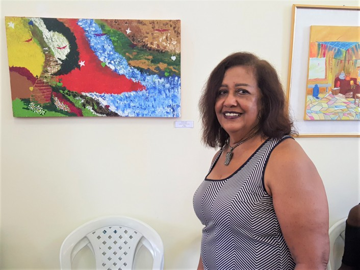 Jacira Lago, 71, é professora aposentada de Artes e sempre quis ser pintora