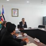 O encontro aconteceu na sala de reuniões da vice-governadoria, no Palácio Henrique de La Roque