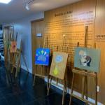 Telas confeccionadas por servidores aposentados foram expostas no Ministério Público