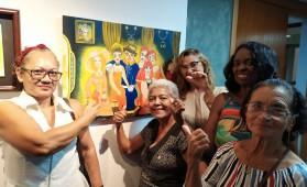 Exposição, que conta com nove telas originais e cinco releituras, fica em cartaz até o dia 30 de agosto