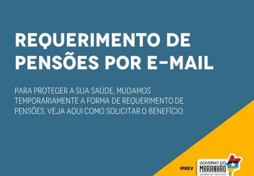 Requerimento de pensões por e-mail. Para proteger a sua saúde, o Iprev mudou temporariamente a forma de requerimento de pensões.
